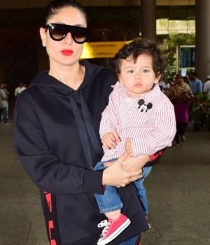 PHOTOS: Taimur Ali Khan returns from Swiss vacation with mom Kareena Kapoor