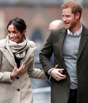 In pictures: Prince Harry and Meghan Markle's first official outing in 2018